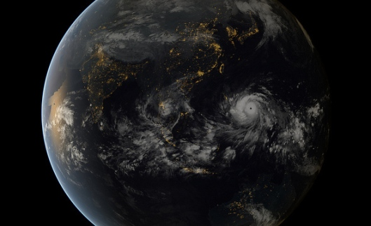 Haiyan by Satellite